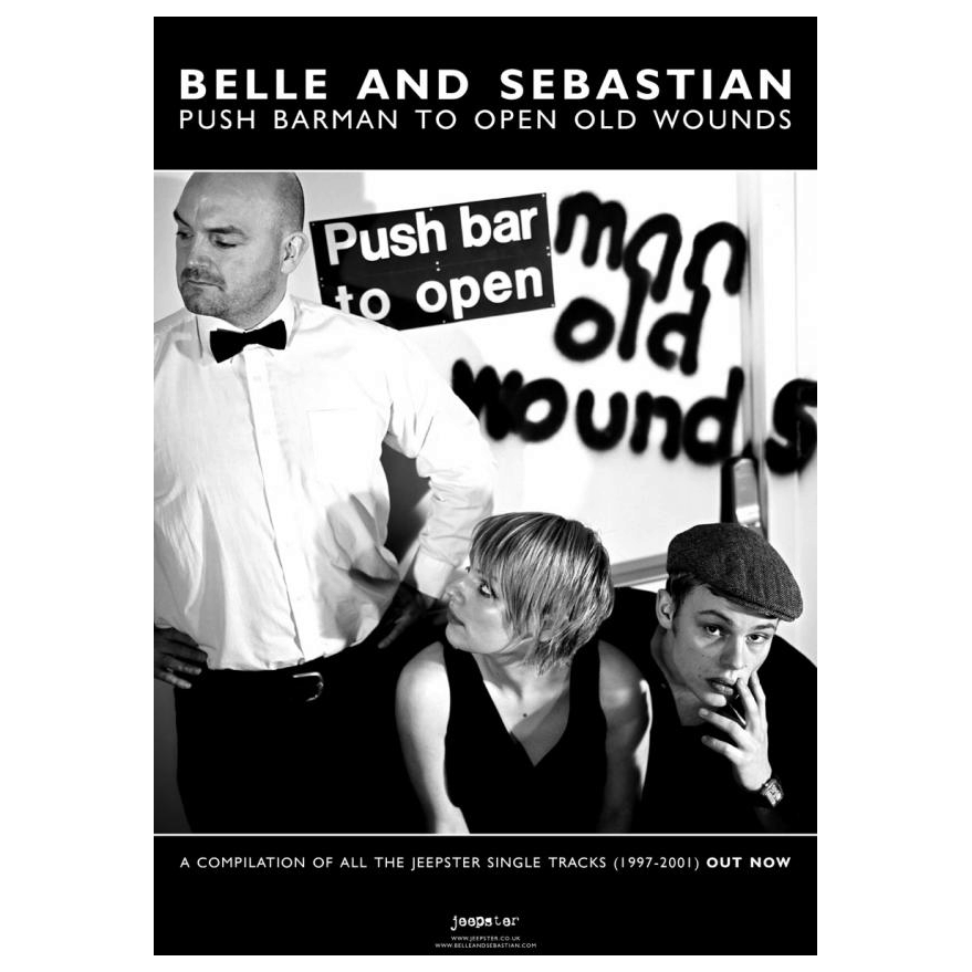 Belle and Sebastian - Push Barman To Open Old Wounds 42 x 30cm Poster