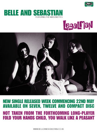 Buy Online Belle and Sebastian - 'Legal Man' 70 x 50cm Poster