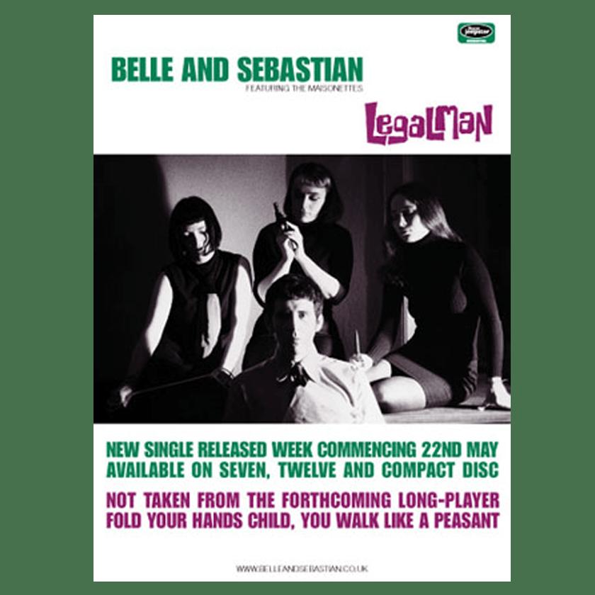 Buy Online Belle and Sebastian - 'Legal Man' 70 x 50cm Poster