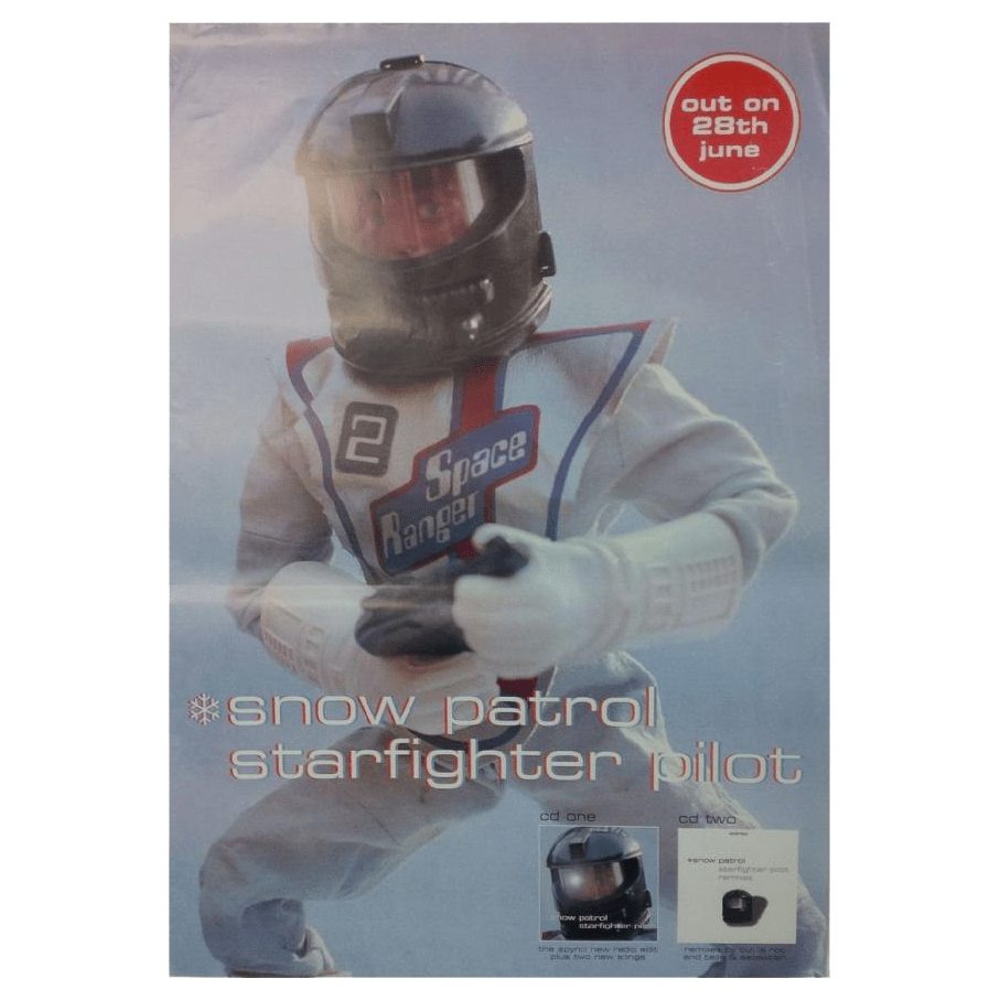 Snow Patrol - Starfighter Pilot 70 x 50cm Poster