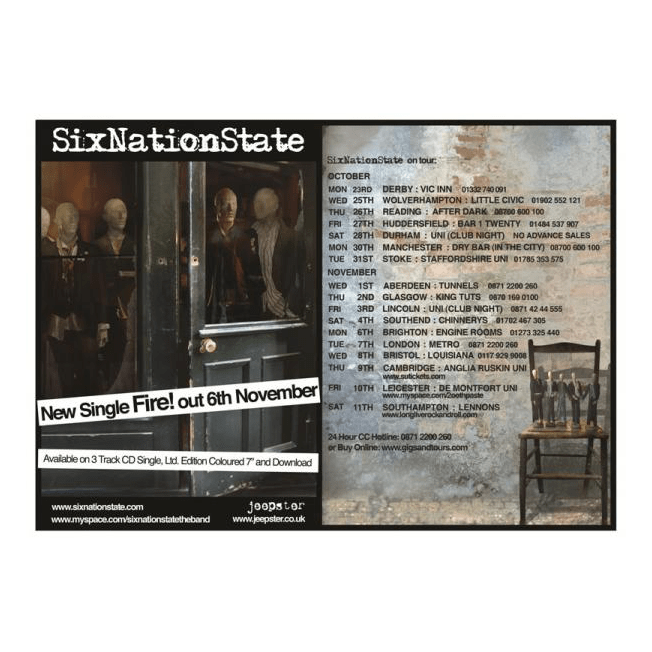 SixNationState - Fire! 42 x 30cm Poster