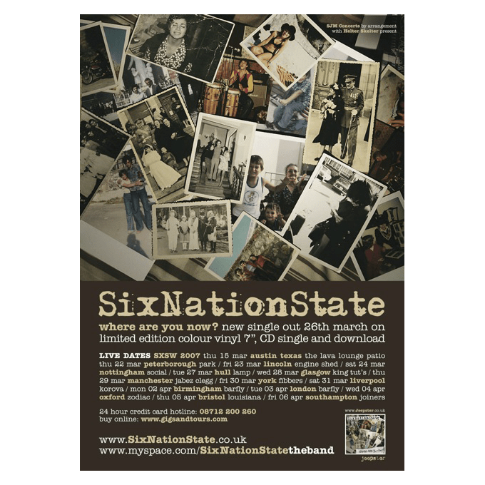 SixNationState - Where Are You Now? 42 x 30cm Poster
