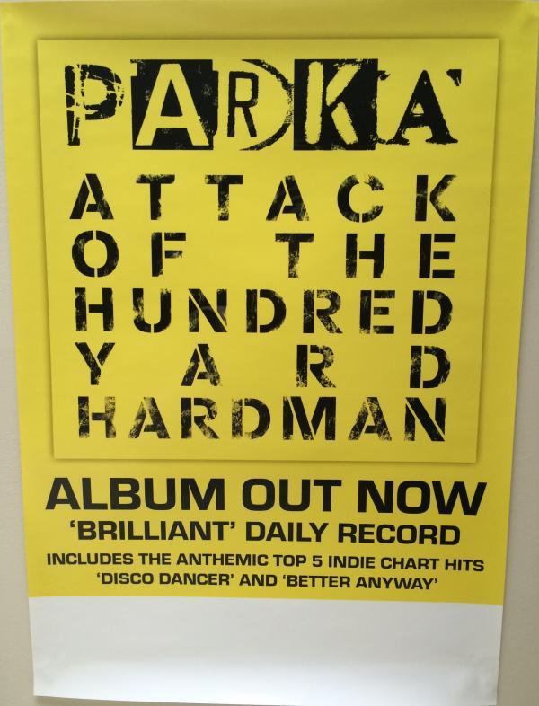 Buy Online Parka - 'Attack Of The Hundred Yard Hardman' 42 x 30cm Poster