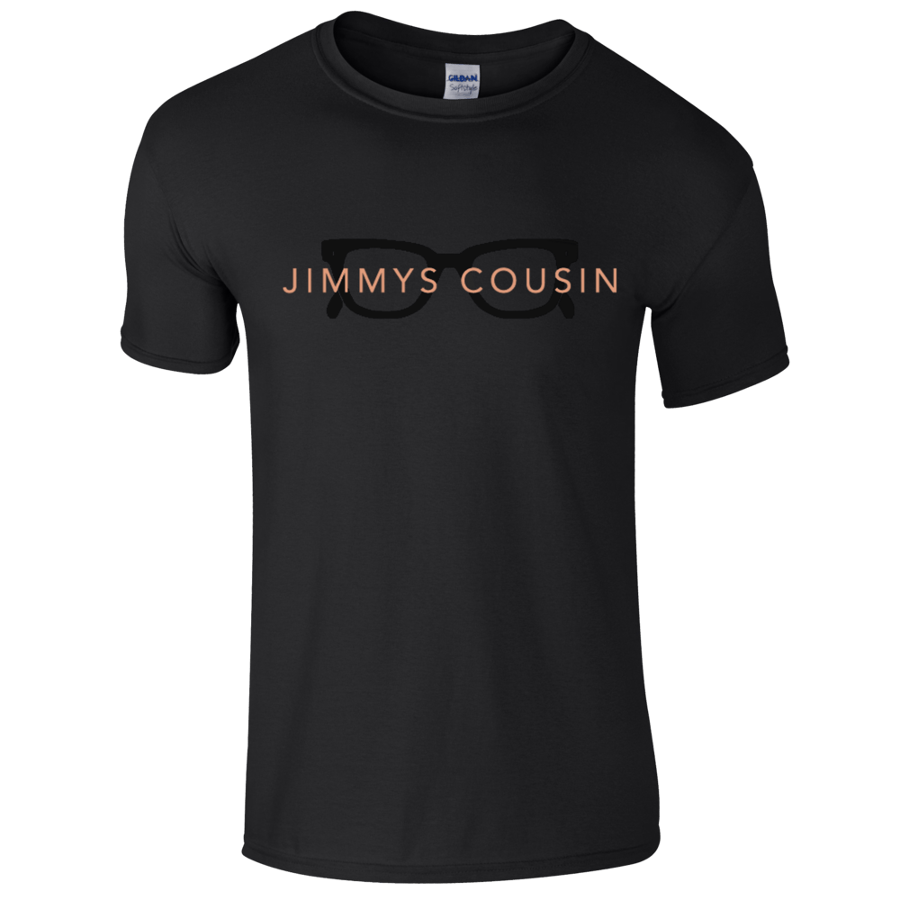 Buy Online Jimmys Cousin - Black Glasses T-Shirt