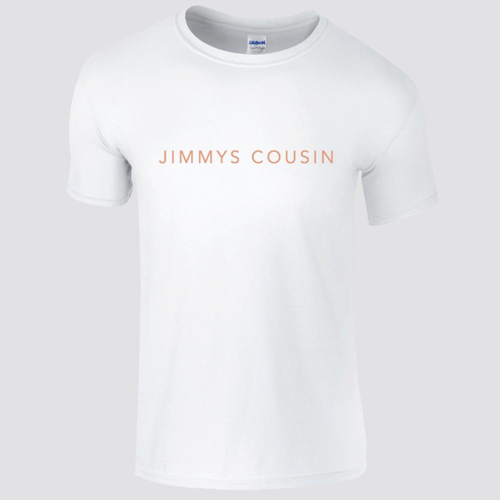 Buy Online Jimmys Cousin - White Logo T-Shirt