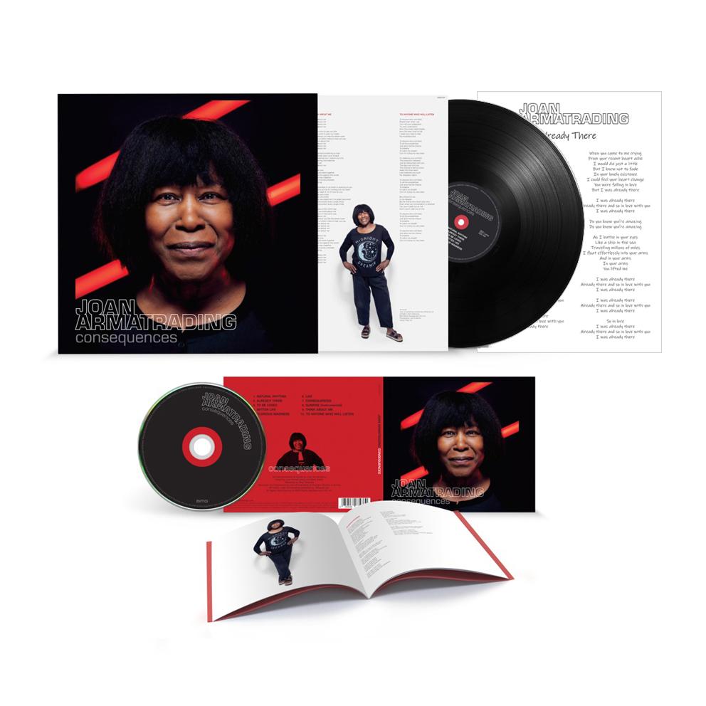 Buy Online Joan Armatrading - Consequences CD + Vinyl + Lyric Sheet (Signed)