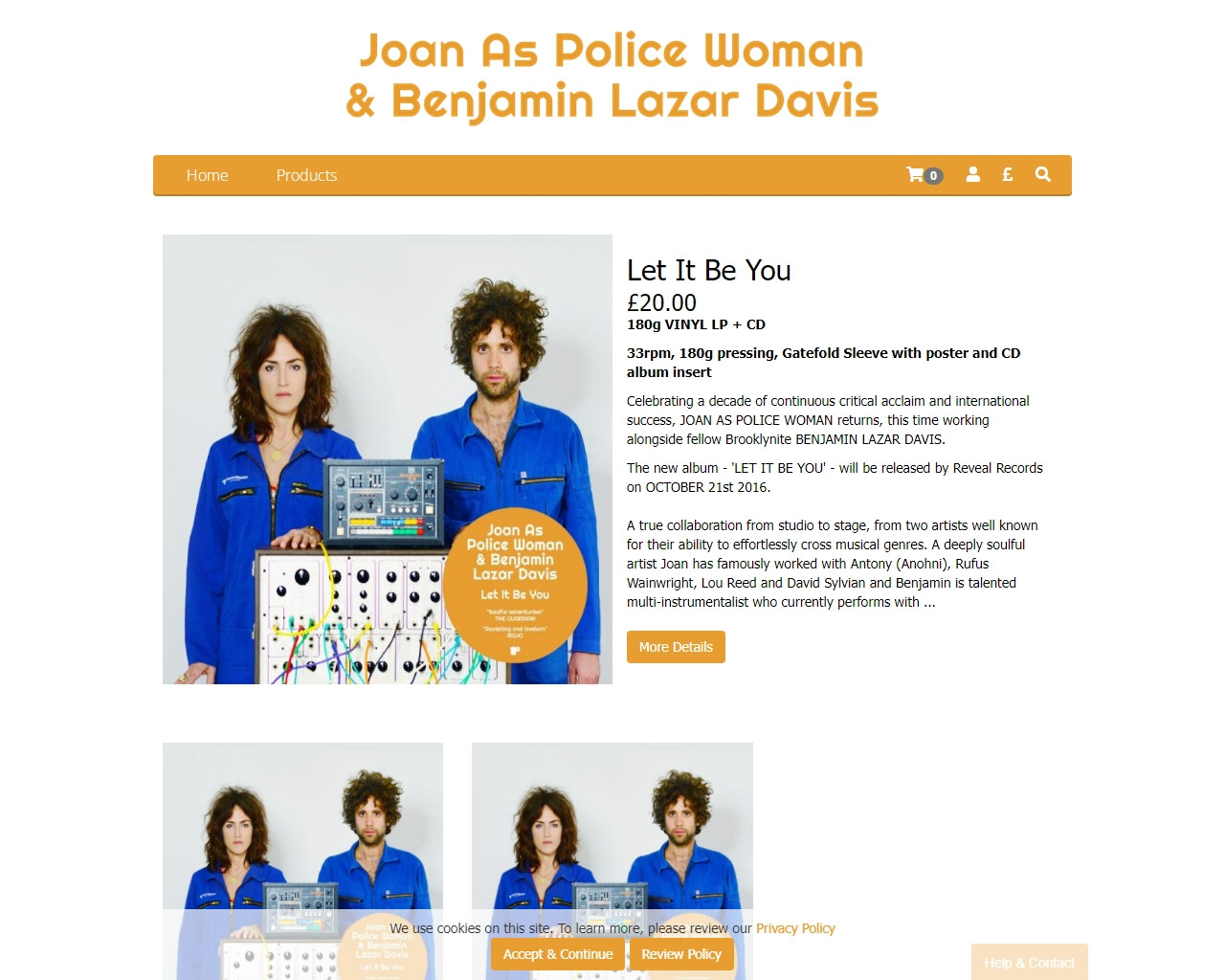 Joan As Police Woman & Benjamin Lazar Davis