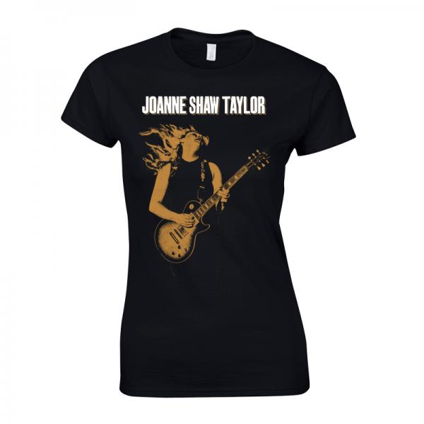 Buy Online Joanne Shaw Taylor - Ladies Gold Guitar T-Shirt