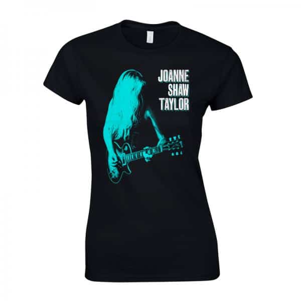 Buy Online Joanne Shaw Taylor - Ladies Green-Blue Guitar T-Shirt