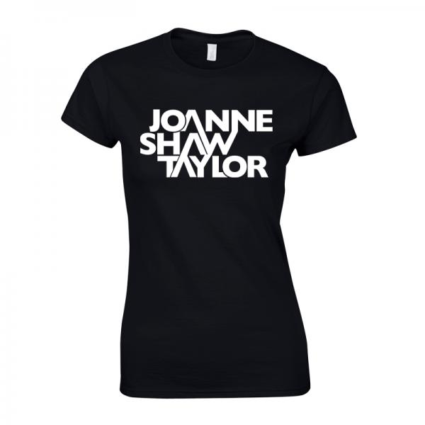 Buy Online Joanne Shaw Taylor - Ladies Black Logo T-Shirt