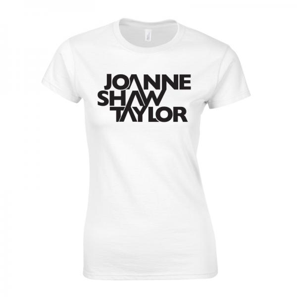 Buy Online Joanne Shaw Taylor - Ladies White Logo T-Shirt