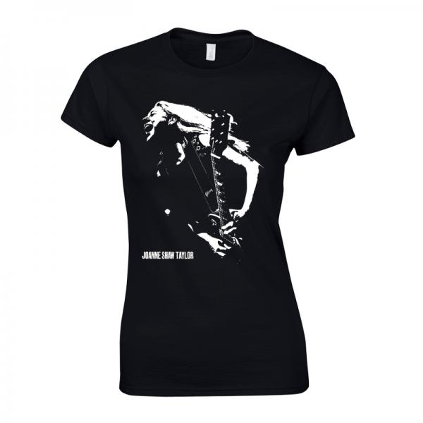 Buy Online Joanne Shaw Taylor - Ladies Black Shouta T-Shirt