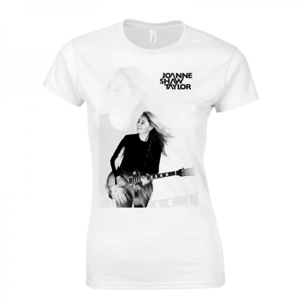 Buy Online Joanne Shaw Taylor - Ladies White Guitar Picture T-Shirt