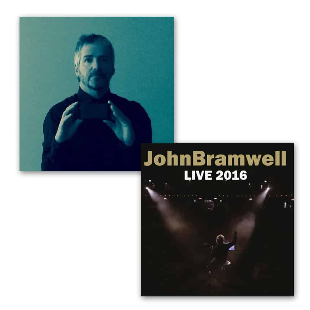 Buy Online John Bramwell - Leave Alone The Empty Spaces Signed CD + Signed Live 2016 CD