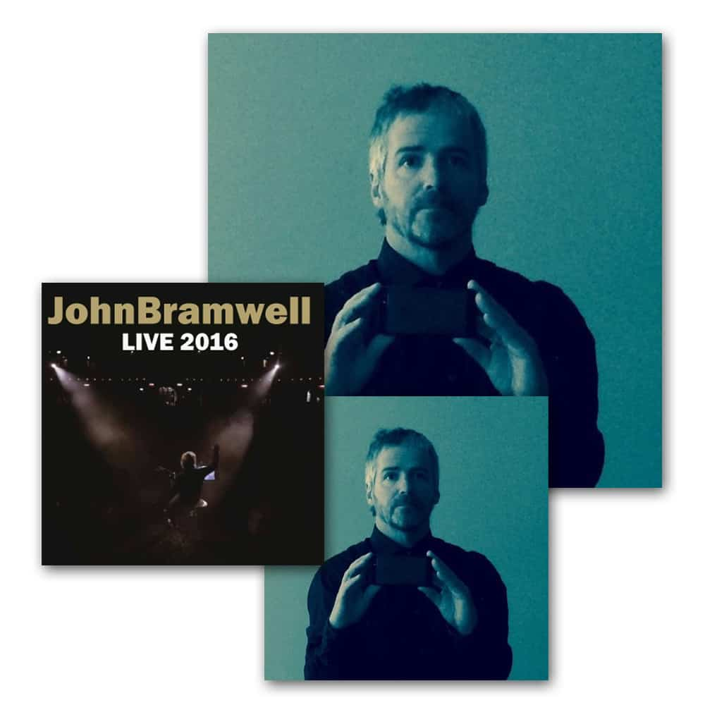 Buy Online John Bramwell - Leave Alone The Empty Spaces Signed CD + Signed Gatefold LP + Signed Live 2016 CD