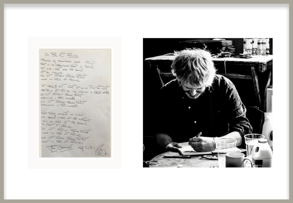 Buy Online John Bramwell - Handwritten Song Lyric Sheets