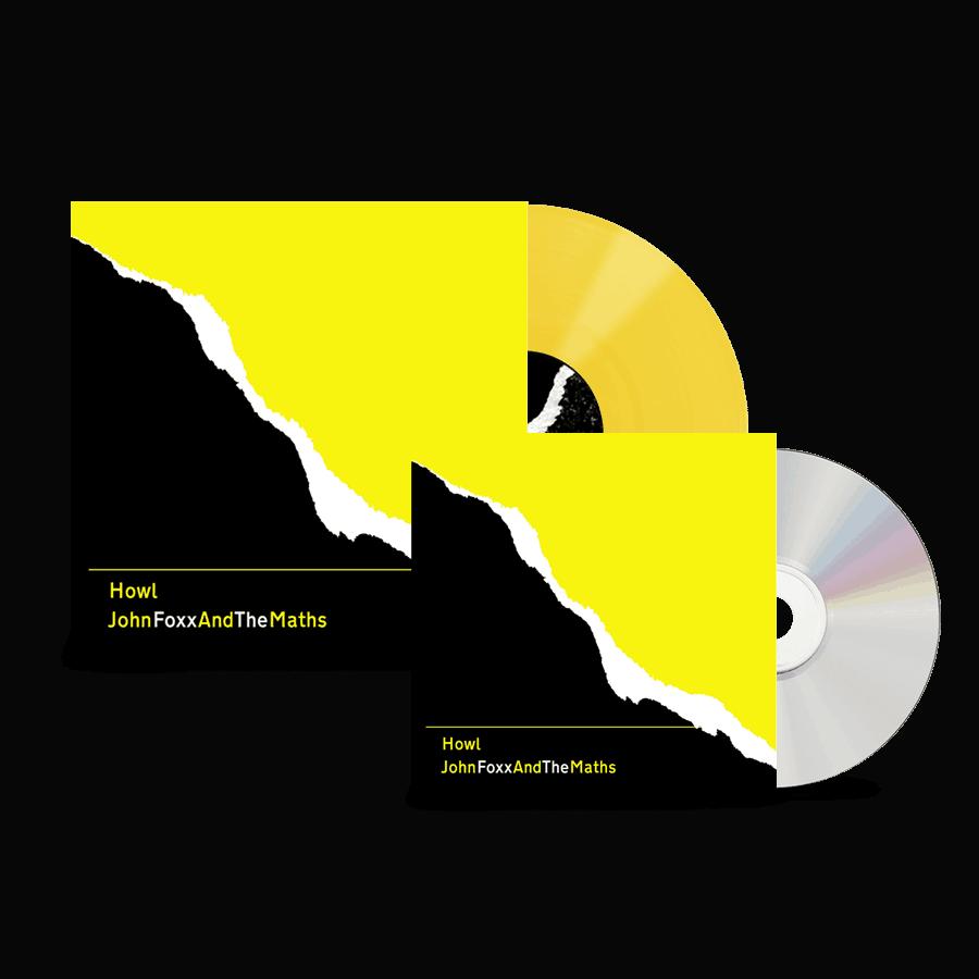 Buy Online John Foxx And The Maths - Howl CD + Howl Ltd Edition Yellow Vinyl