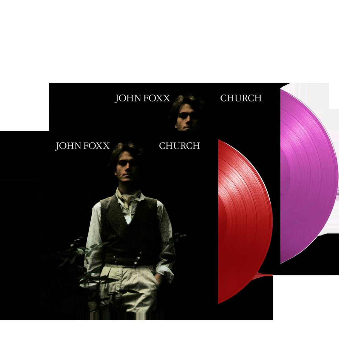 Buy Online John Foxx - Church Ltd Edition Transparent Red Vinyl + Neon Violet Vinyl