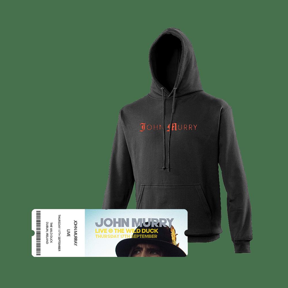 Buy Online John Murry - Black Hoody + Ticket Bundle