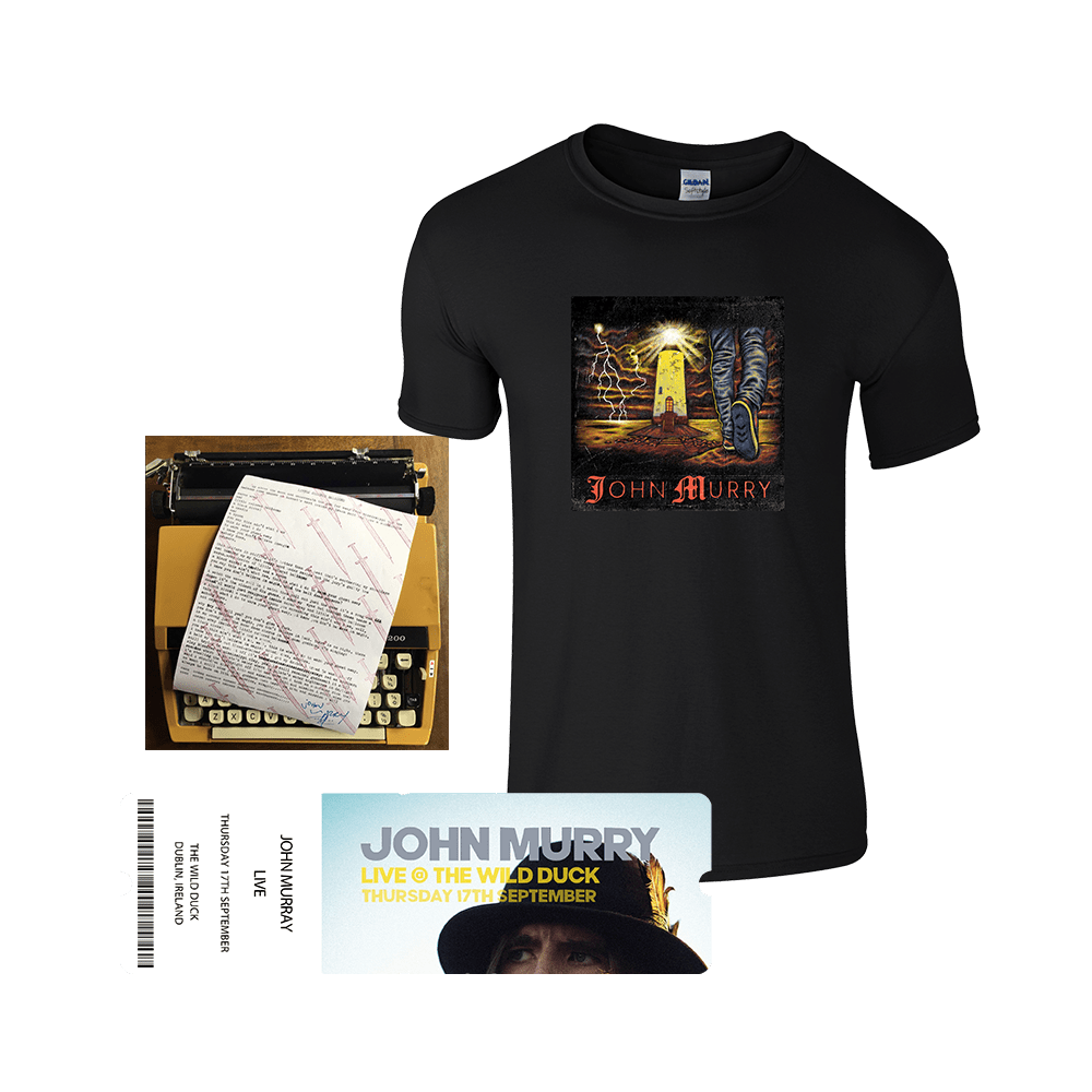 Buy Online John Murry - T-Shirt, Signed Lyric Sheet + Ticket Bundle