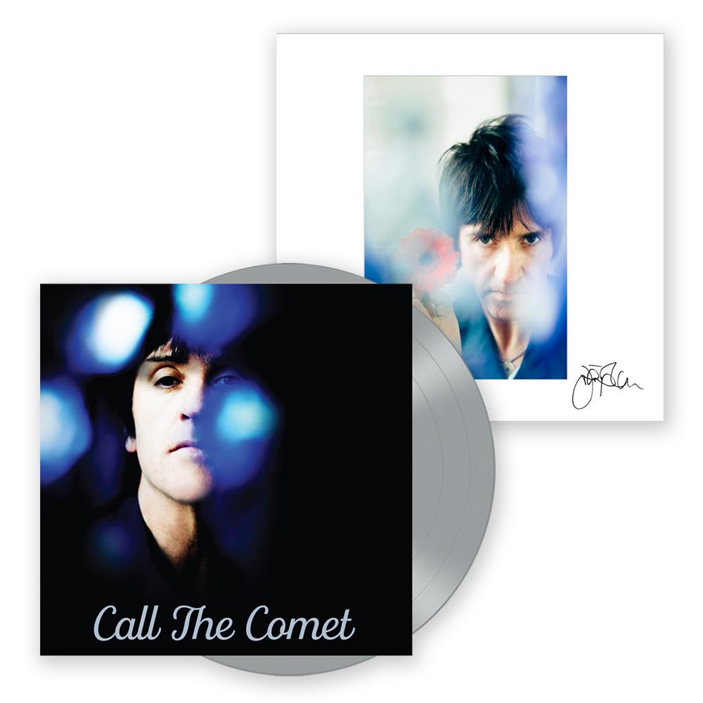 Buy Online Johnny Marr - Call The Comet Deluxe Vinyl LP (Ltd Edition Silver Vinyl) + 12 x 12 Inch Art Print (Signed)