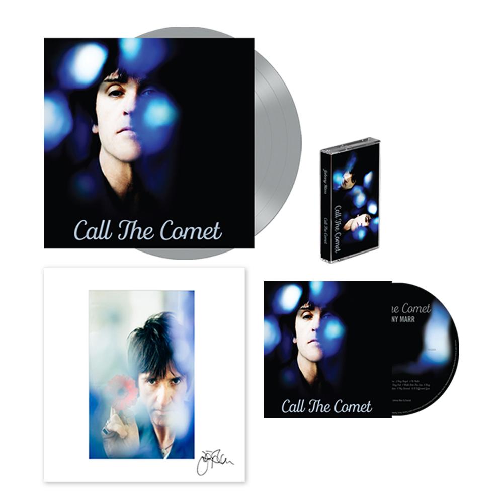 Buy Online Johnny Marr - Call The Comet CD, Deluxe Vinyl, Cassette + 12 x 12 Inch Print