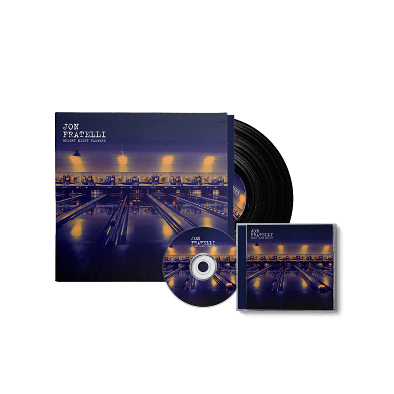 Buy Online Jon Fratelli - Bright Night Flowers CD & Standard 180g LP Bundle