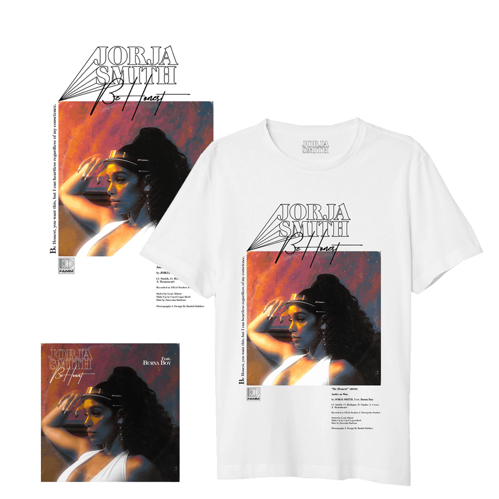 Buy Online Jorja Smith - Be Honest T-Shirt + Poster + Single Download.