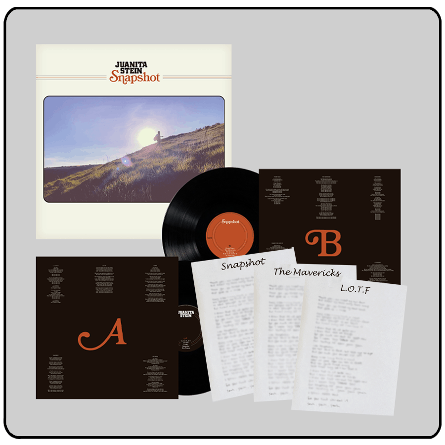 Buy Online Juanita Stein - Snapshot Vinyl + Handwritten Lyric Sheets (Signed) (Inc Signed Photo)
