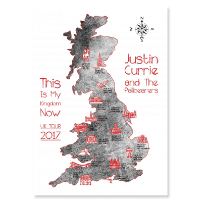 Buy Online Justin Currie - This Is My Kingdom Now Tea Towel