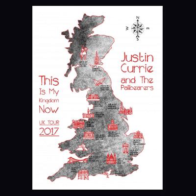 Buy Online Justin Currie - This Is My Kingdom Now Tea Towel