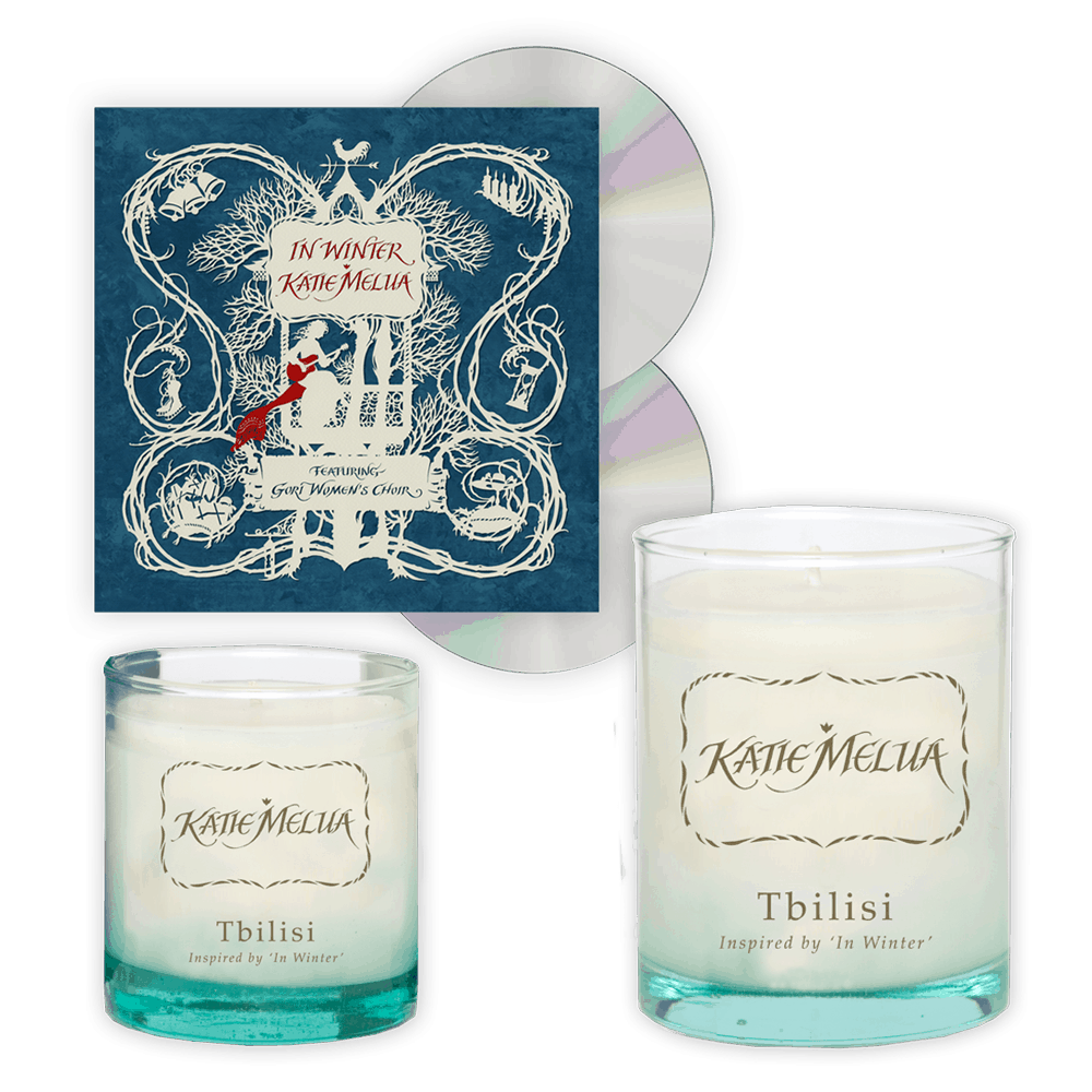 Buy Online Katie Melua - In Winter 2CD Album + Large Candle + Small Candle