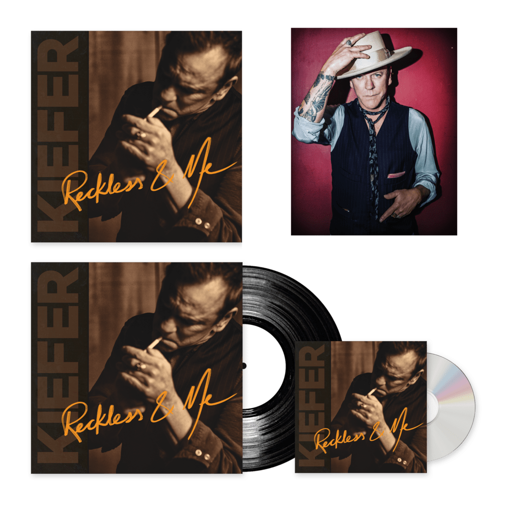 Buy Online Kiefer Sutherland - Reckless & Me Album Bundle (Includes Signed Photograph And Artprint)