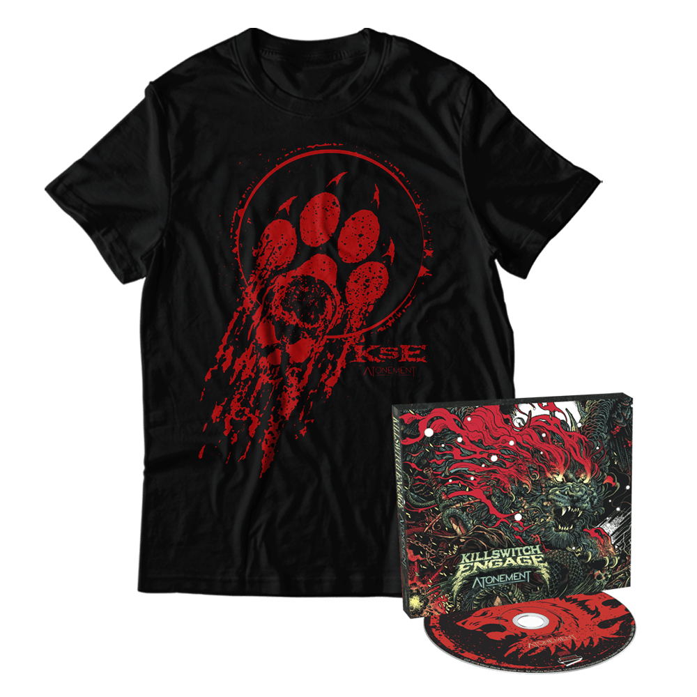 Buy Online Killswitch Engage - Atonement CD + Bloody Paw T-Shirt