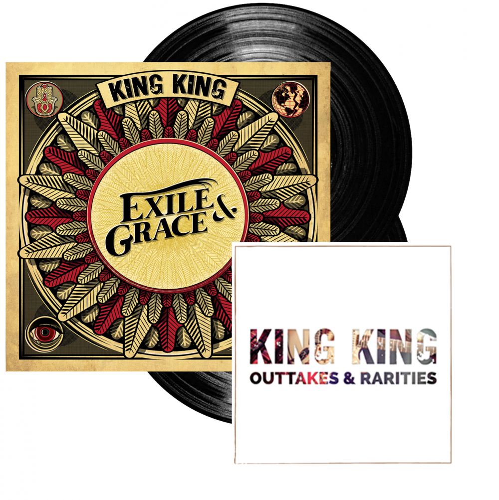 Buy Online King King - Exile & Grace - 180grm Black Double Vinyl  (Signed) (w/ Outtakes & Rarities CD EP)