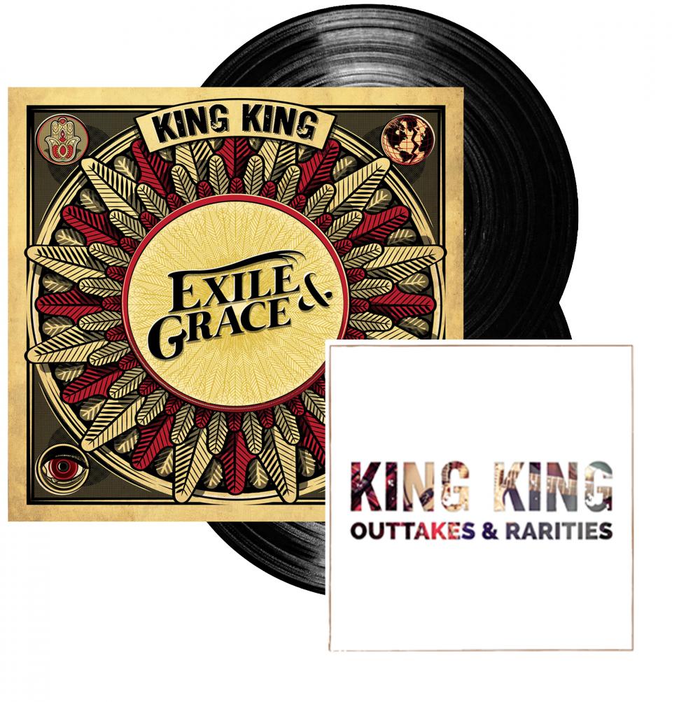 Buy Online King King - Exile & Grace - 180grm Black Double Vinyl  (Signed)