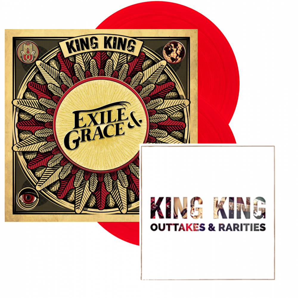 Buy Online King King - Exile & Grace - Limited Edition 180grm Red Vinyl Double LP (Signed, Store Exclusive)