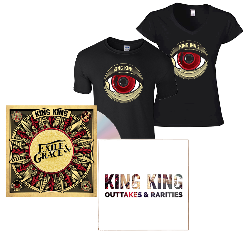 Buy Online King King - Exile & Grace - Signed CD + Exclusive T-Shirt (w/ Outtakes & Rarities CD EP)
