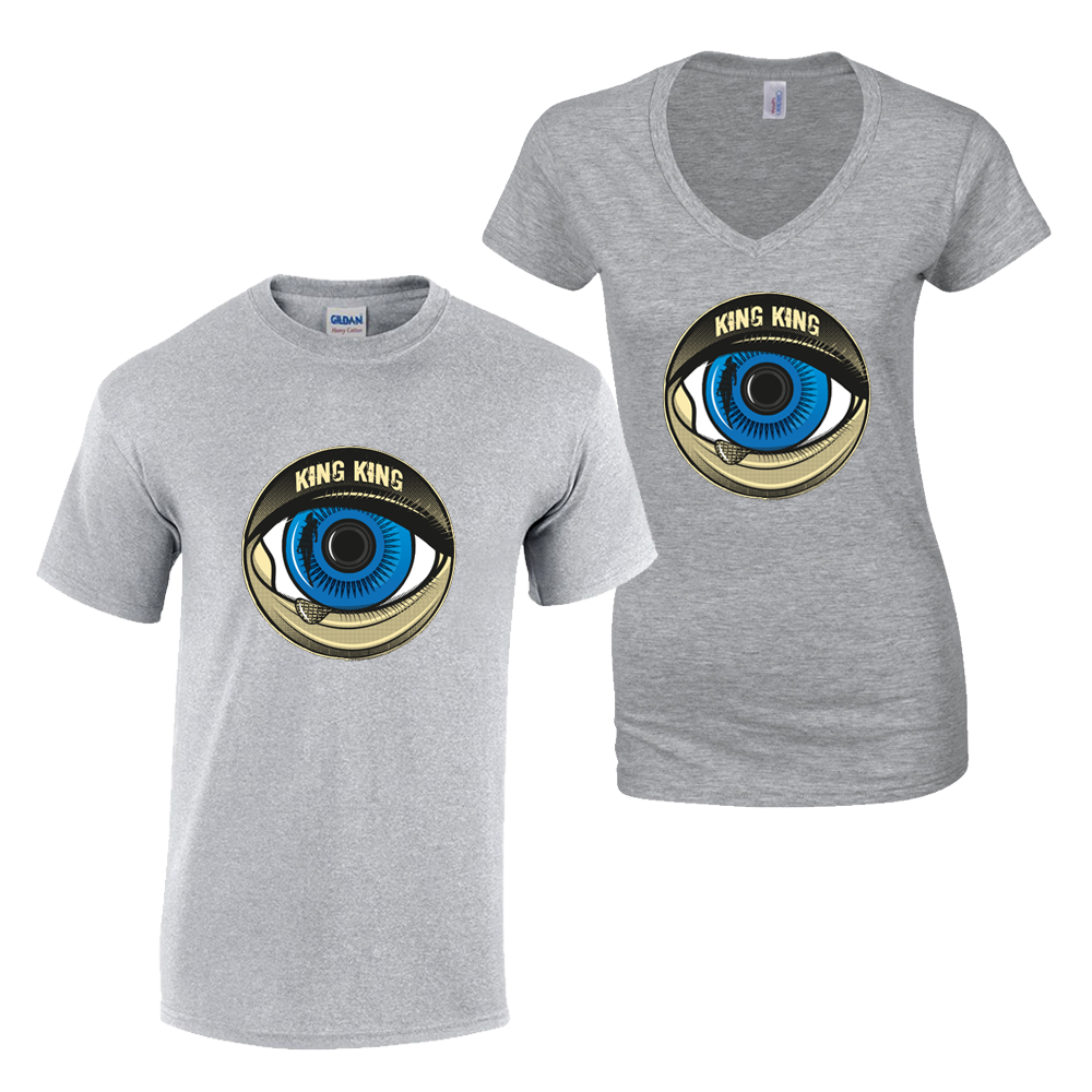 Buy Online King King - Blue Eye Grey T-Shirt