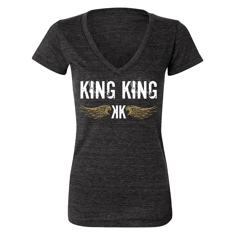 Buy Online King King - Wings Grey Ladies T-Shirt