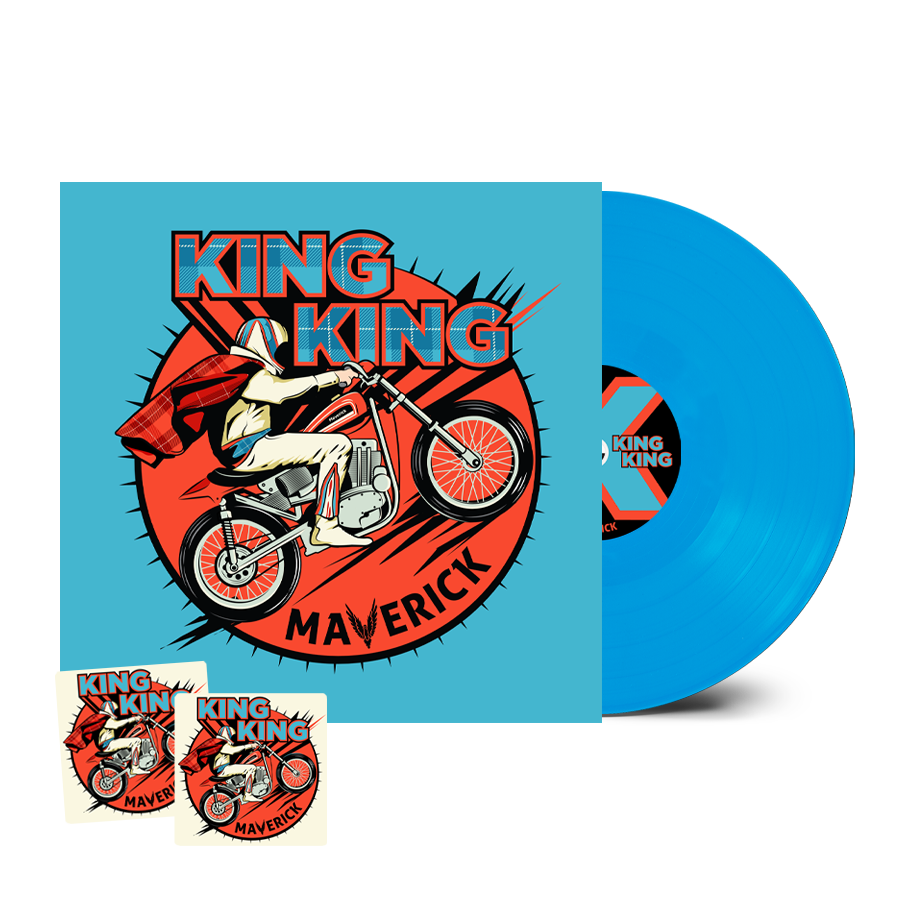 Buy Online King King - Maverick Coloured Signed (Inc. 2 Beer Mats) (Inc. Bonus CD)