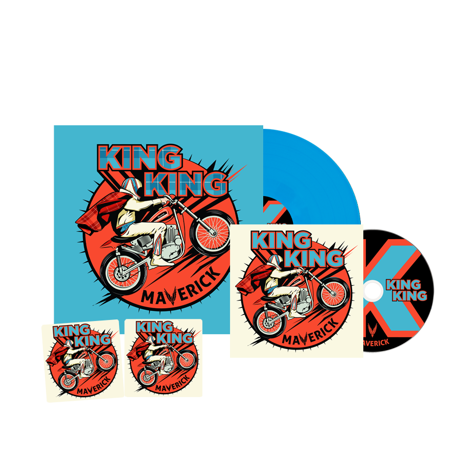 Buy Online King King - Maverick CD + Coloured Vinyl (Inc. Bonus Live CD, 2 Beer Mats)