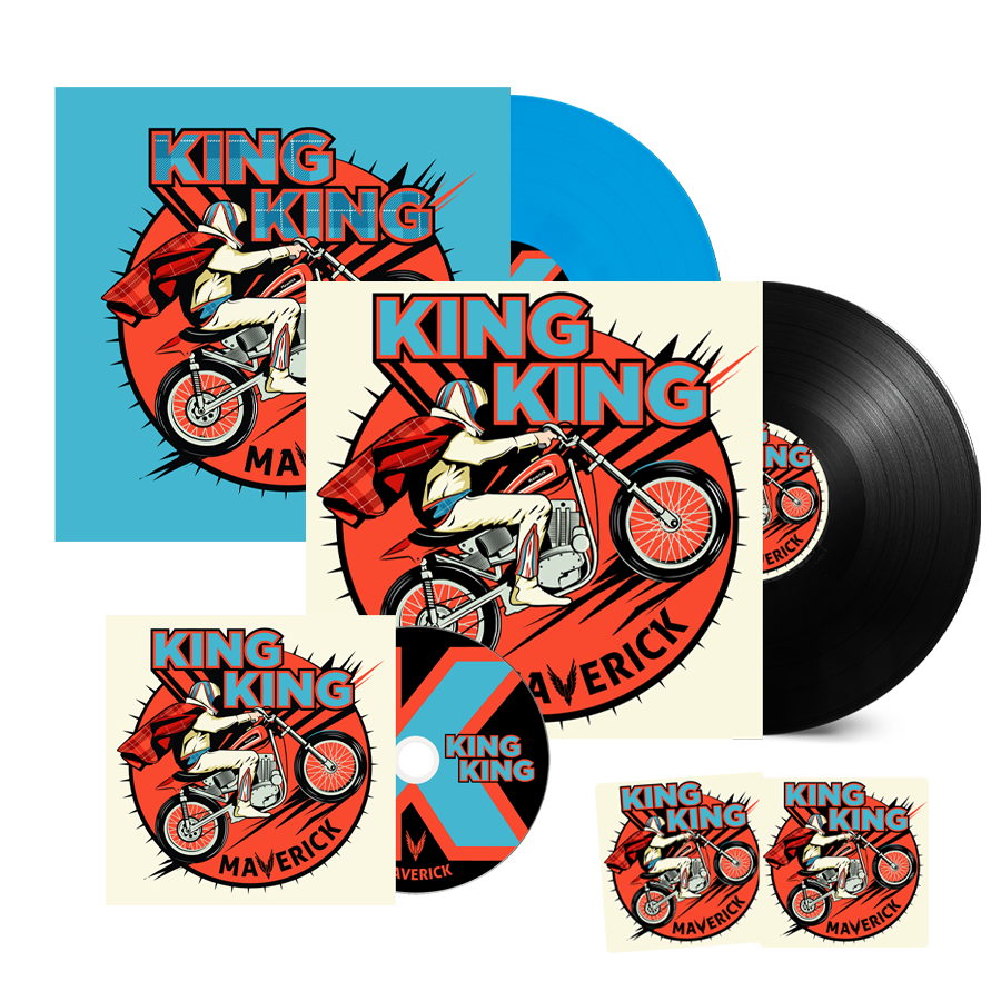 Buy Online King King - Maverick CD + Vinyl + Coloured Vinyl (Inc. Bonus Live CD, 2 Beer Mats)