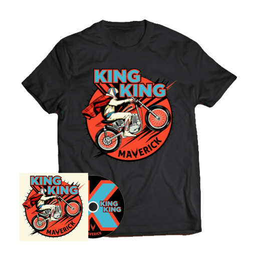 Buy Online King King - Maverick CD (Inc. Bonus Live CD) + T-Shirt