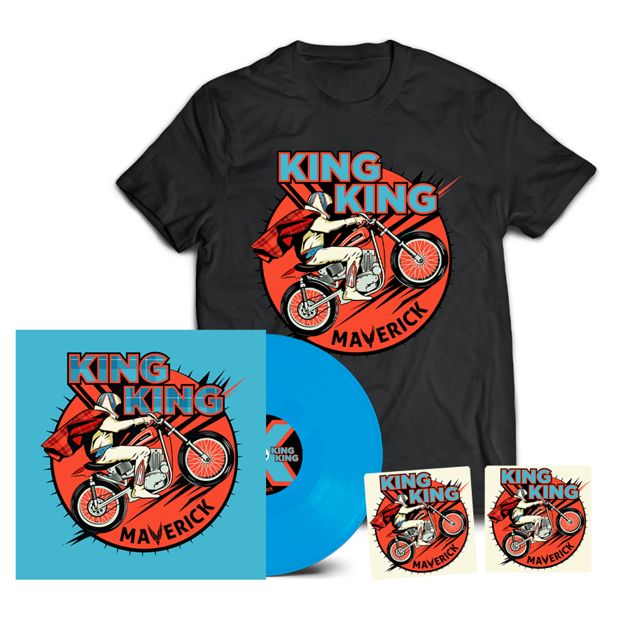 Buy Online King King - Maverick Coloured Vinyl (Inc. 2 Beer Mats) + T-Shirt