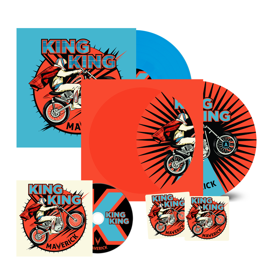 Buy Online King King - Maverick CD + Picture Disc + Coloured Vinyl (Inc. Bonus Live CD, 2 Beer Mats)
