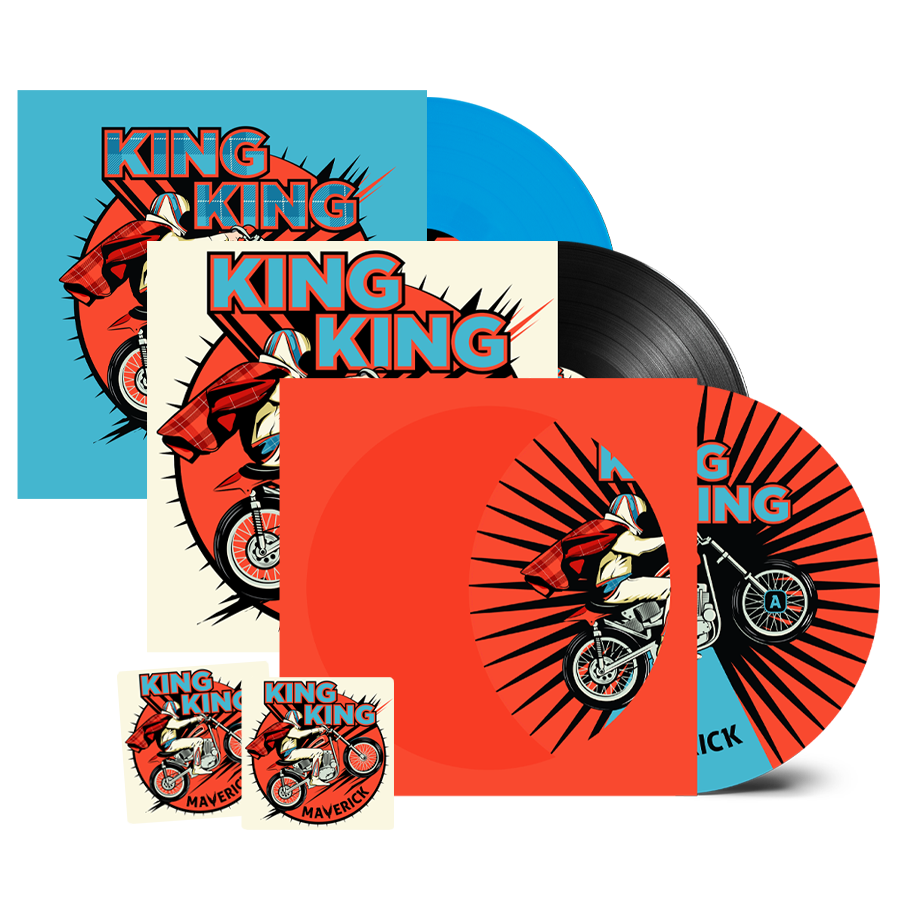 Buy Online King King - Maverick Picture Disc + Coloured Vinyl + Vinyl (Inc. 2 Beer Mats)