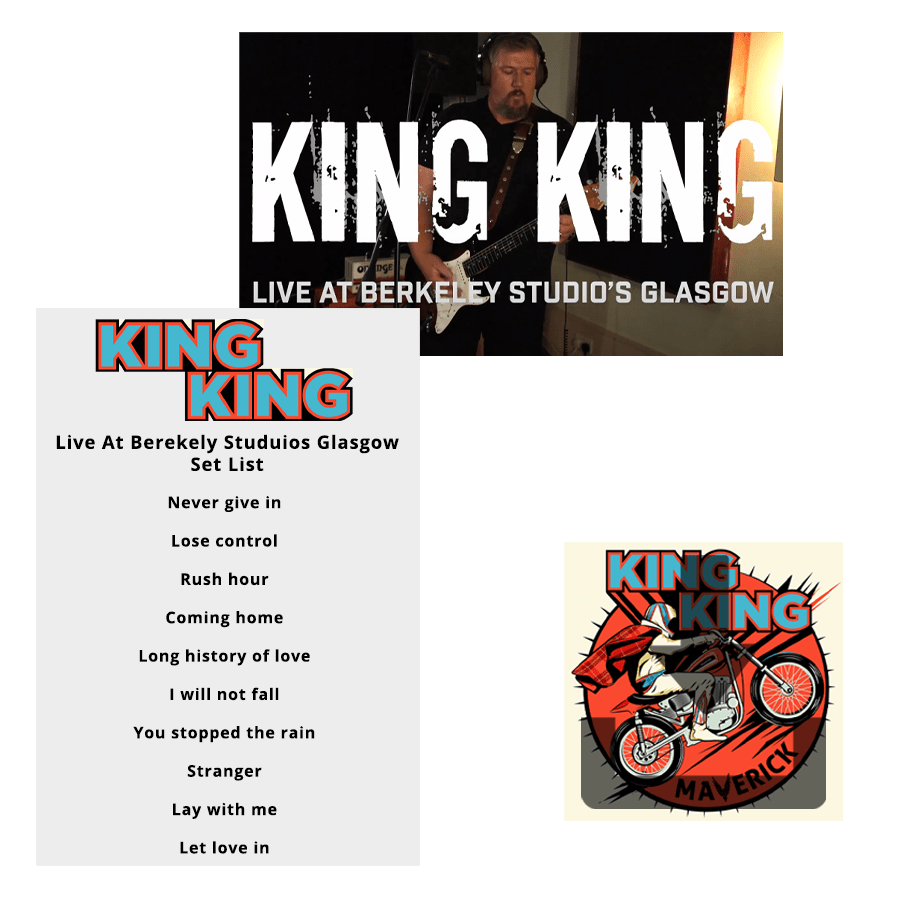 Buy Online King King - Video/Audio gig download + Deluxe Maverick Album Download + Signed Set List