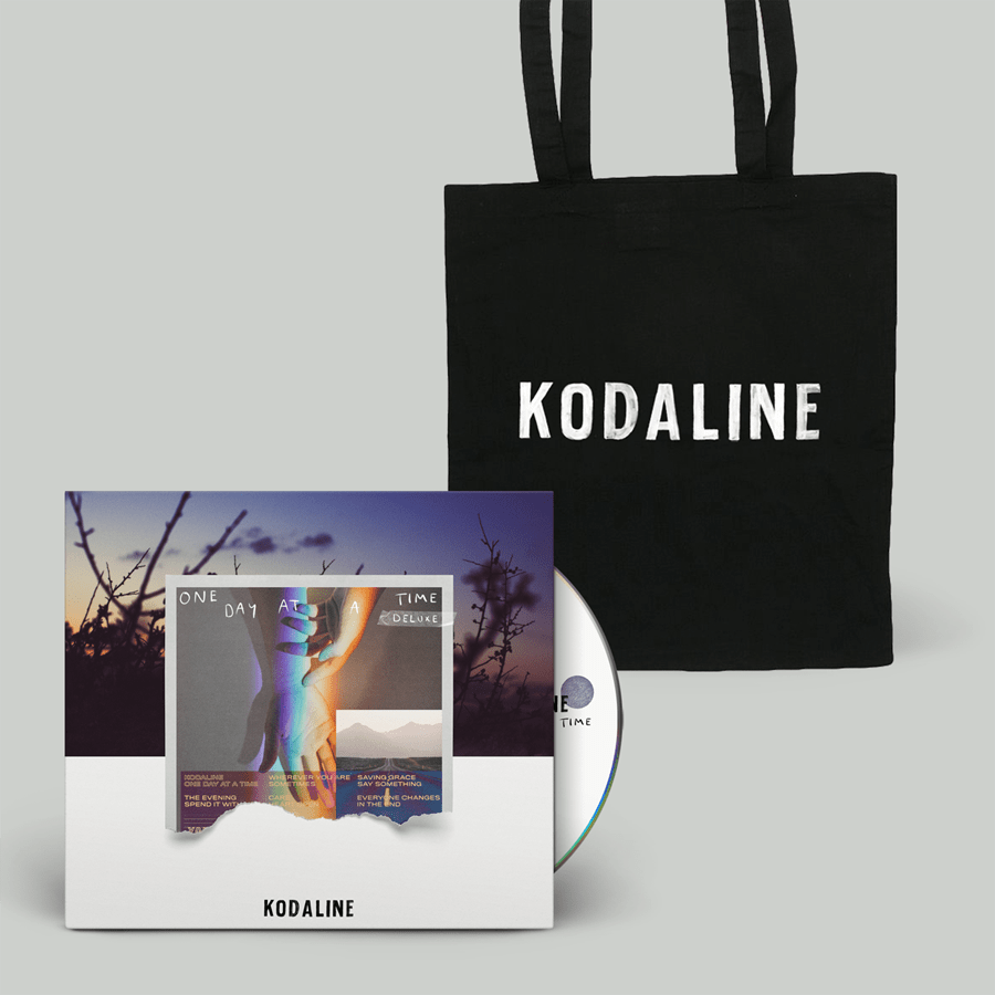 Buy Online Kodaline - 'One Day At A Time' Deluxe CD Digipak + Distressed Logo Tote Bag