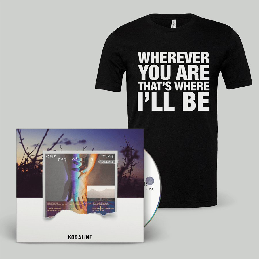 Buy Online Kodaline - 'One Day At A Time' Deluxe CD Digipak + Black T-shirt